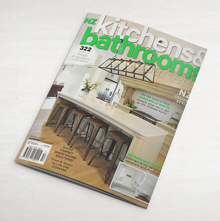 kitchen and bathrooms magazine article, feature cover